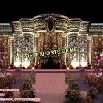 Grand Vintage Theme Crown Wedding Stage