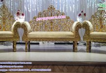 Indian Style Wooden Carved Wedding Furniture Set