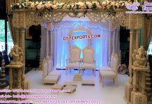 Indian Wedding Square Wooden Craft Mandap UK