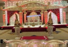 Latest Wedding Fiber Dhanush Mandap & Stage