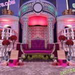 Luxurious Asian Wedding Crown Stage London
