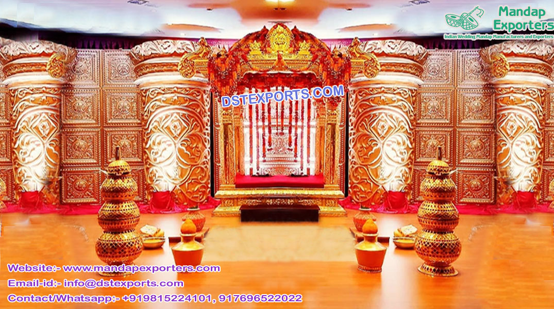 Modern South Indian Wedding Manavarai Stage