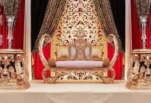 New Arabian Wedding Boat Style Sofa France