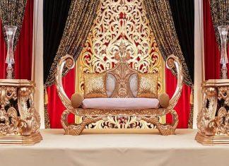 New Arabian Wedding Boat Style Sofa France