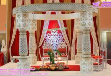 New Cut Work Wedding Mandap Set Malaysia