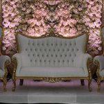 Newly Designed High Back White Gold Furniture Set