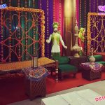 Punjabi Theme Wedding Mehndi Stage Decoration