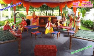 Punjabi Wedding Ladies Sangeet Decorative Statues