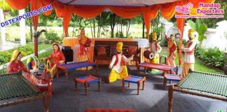 Punjabi Wedding Ladies Sangeet Decorative Statues