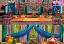 Punjabi Wedding Mehndi Stage Decors