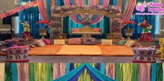 Punjabi Wedding Mehndi Stage Decors