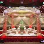 Royal Golden Carved Fiber Wedding Mandap