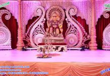 Srilankan Wedding Stage Paisley Decoration