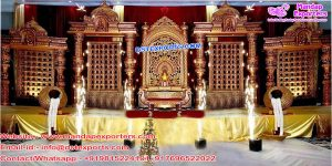 Stylish South Indian Wedding Stage Mandap