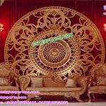 Wedding Stage Golden Round Back-Frame