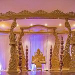 Beautiful Wedding Wooden Look Fiber Peacock Mandap