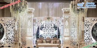 Canadian Wedding White Theme Fiber Stage