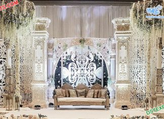 Canadian Wedding White Theme Fiber Stage