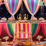 Colorful Backdrop Curtains for Mehndi Stage