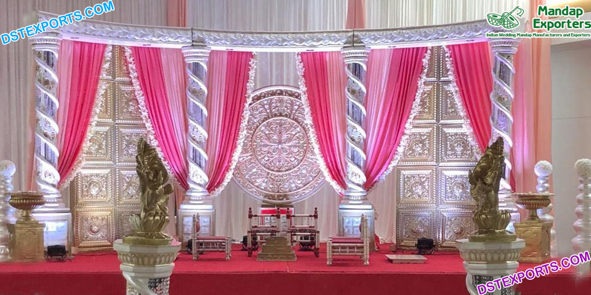 Dreamy Indian Wedding Stage Decoration USA