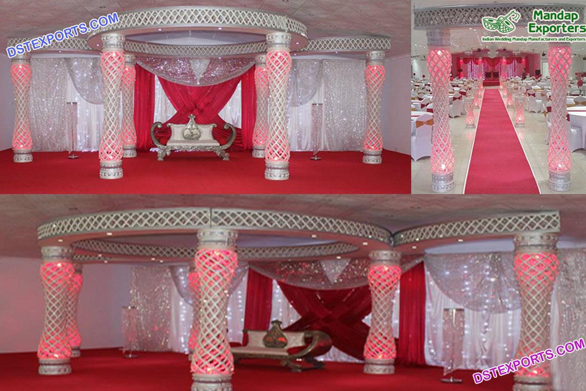 Elegant Wedding Fiber Crystal Mandap Set