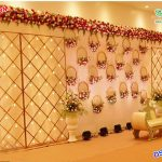 Elegant Wedding Stage with Candle Back Walls