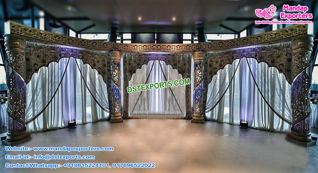 Exclusive Wedding Fiber Crystal Half Moon Stage