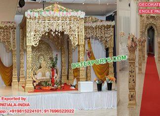 Exclusive Wedding Golden Bollywood Mandap Norway