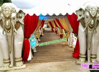 Fiber Elephant Statues for Entrance Decoration