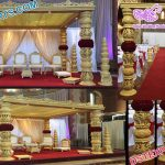Grand Wedding Wooden Square Mandap Germany