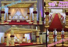 Grand Wedding Wooden Square Mandap Germany