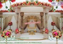 Gujarati Wedding Triple Pole Wooden Mandap Germany