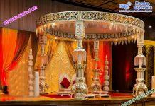 Hindu Wedding Elephant Pillar Mandap Germany