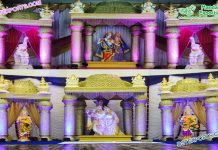 Hindu Wedding Radha-Krishna Mandap Cum Stage