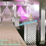 Latest Silver Crystal Wedding Mandap New York