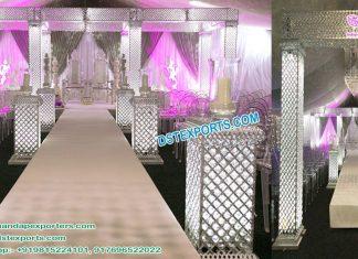 Latest Silver Crystal Wedding Mandap New York