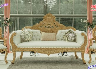 Luxurious Weddig White Gold Furniture Set