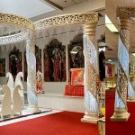 Modern Wedding Fiber Crystal Mandap Switzerland