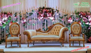 Muslim Wedding Italian Sofa with Matching Chairs