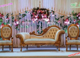 Muslim Wedding Italian Sofa with Matching Chairs