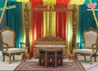 Muslim Wedding Wooden Swing Jhoola Set