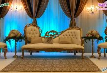 Princess Wedding Couch with Leaf Chairs