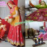 Punjabi Culture Theme Statues for Wedding