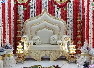 Royal Wedding Stage Maharaja Sofa London