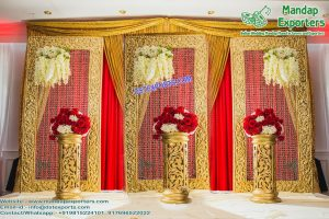 Special Wedding Gold Back-Frames with Crystal Chains M