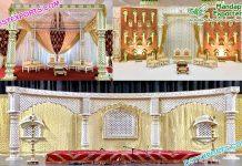 Stunning Look Wedding Fiber Mandap & Stage