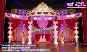 Stylish Fiber Crystal Fountain Wedding Mandap