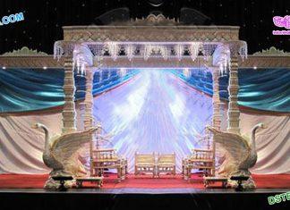 Stylish Swan Pillar Wedding Mandap Dallas
