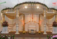 Stylish Wedding Fiber Crystal Mandap Dallas