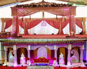 South Asian Wedding Crown Mandap Germany